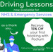 NHS Driving Lessons & Emergency Driving Tests - Now Available