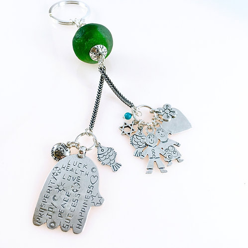 Blessing Hand Silver Key Chain