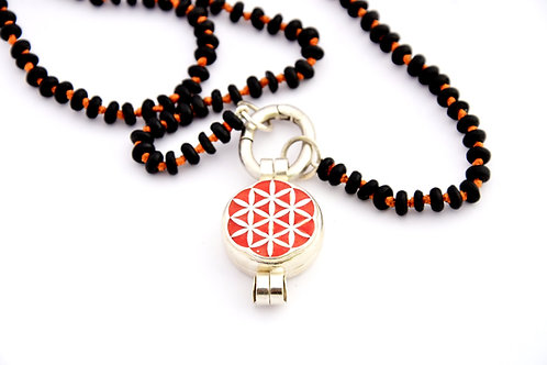 Flower of life box pendant Sterling silver