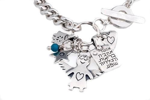 Angel Stetling Silver Bracelet