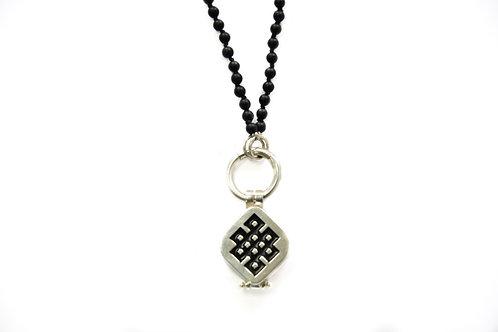 sterling silver box pendant infinity symbol