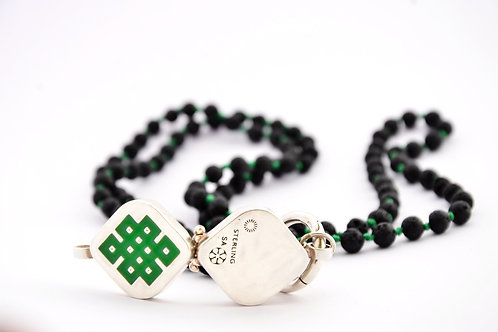 Tibetan infinity symbol box pendant