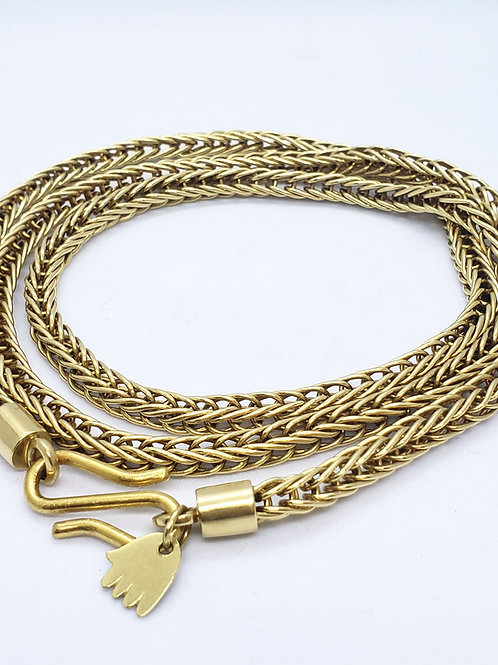 שרשרת פוקסטייל זהב 18 קראט