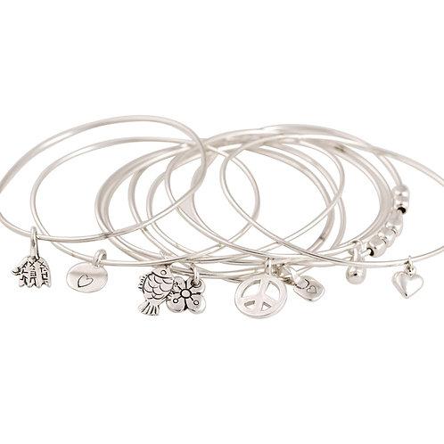 Sterling silver hard bracelet