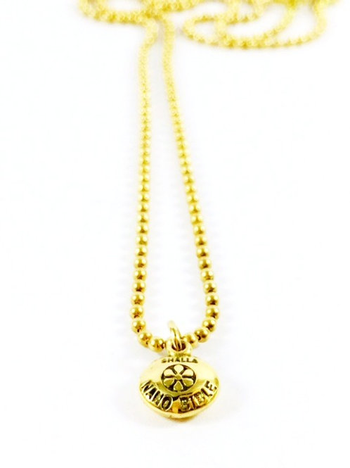 18K Gold Nano Bible Necklace