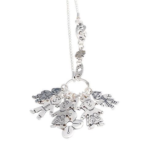 Children Pendant Silver Necklace