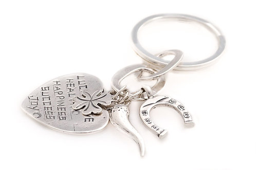 Key Chain Heart Pendant