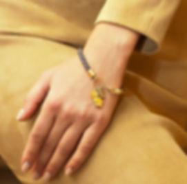 צמיד זהב תליוני ילדים ותליוני מזל