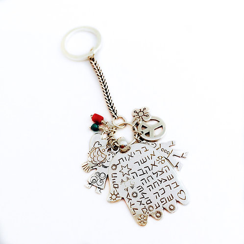 lucky key chain sterling silver