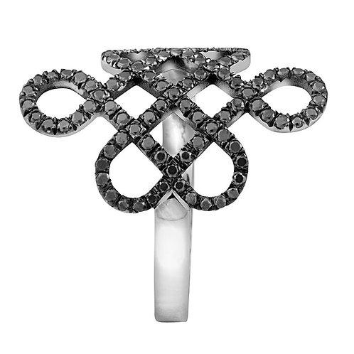 Black diamonds ring