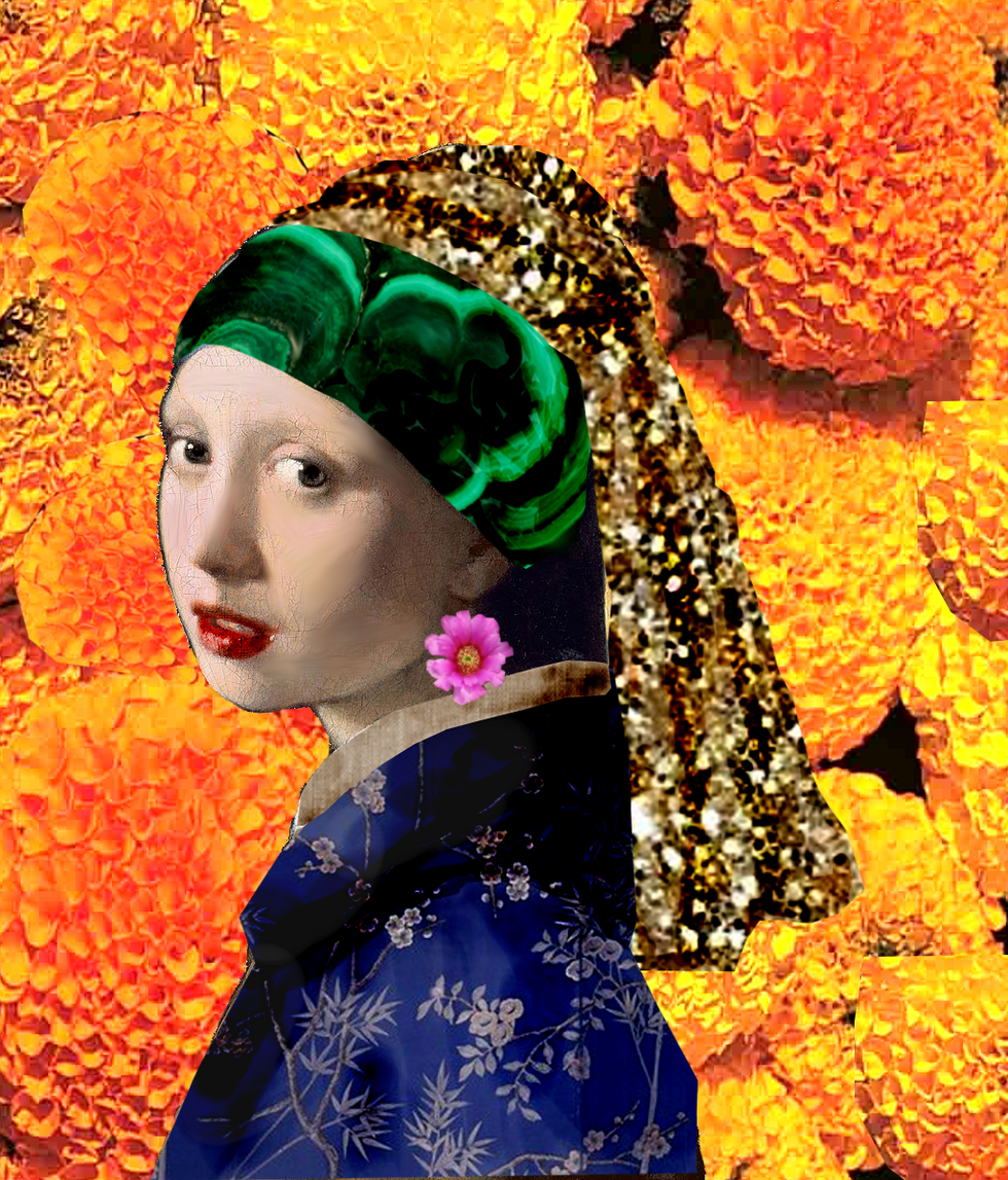 The Queen Midas with the Flower Earring