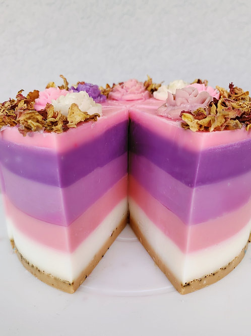 Pink Sugar Cake Soap - Whole Cake