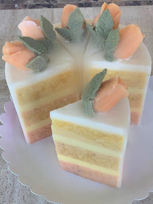 Rose Ombré Cake - Slice