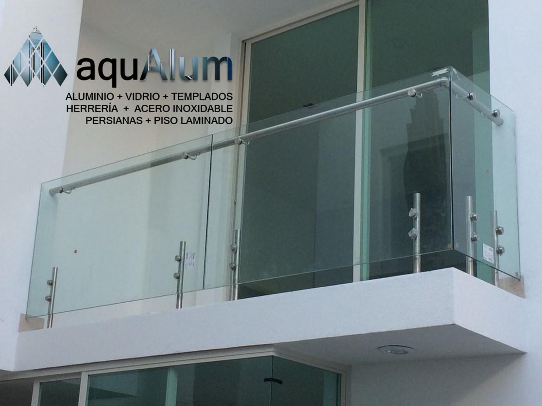 Barandales y pasamanos guanajuato aluminio y vidrio for Cristal templado queretaro