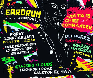 EARDRUM are back! London gig!