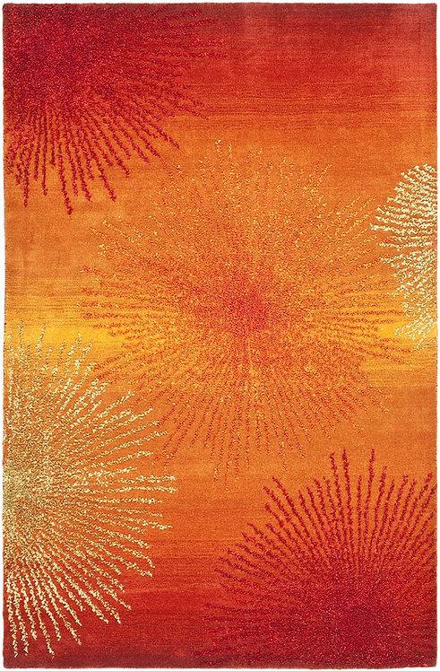 Freda Rust/Orange Area Rug, 6' x 9'
