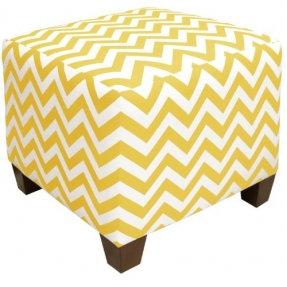 Yellow Cube Ottoman