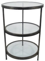 Threshold Round Accent Table with 2 Shelves