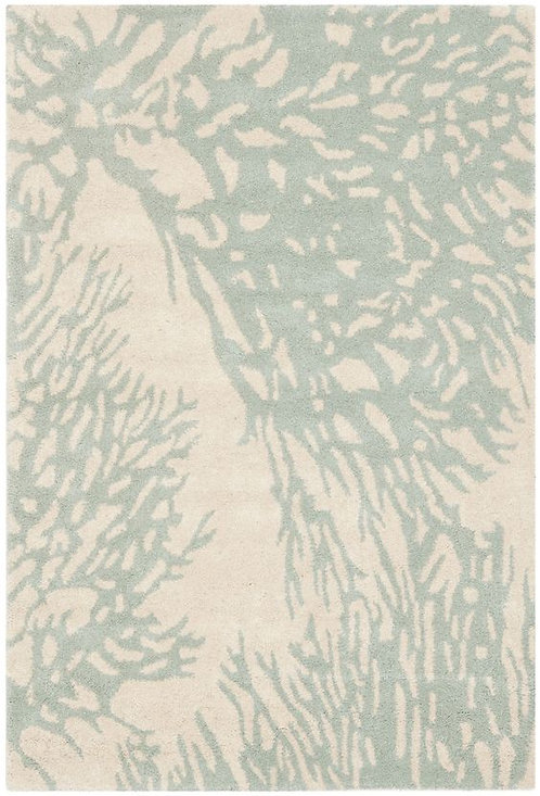 Safavieh Juniper Beige/Blue Area Rug, 6' x 9'