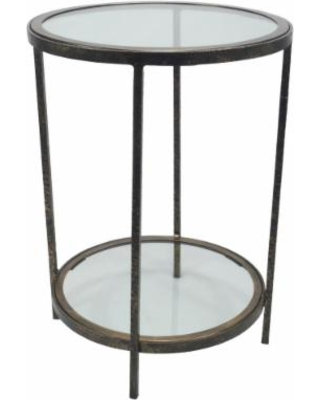 Threshold Round Accent Table with 1 Shelf
