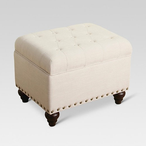 Danbury Tufted Storage Ottoman with Nailheads