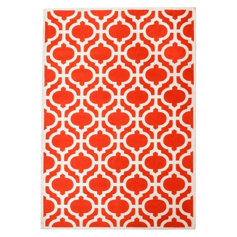 Threshold Indoor/Outdoor Flatweave Red Rug, 7x10