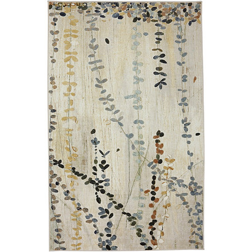 Parsons Beige Area Rug by Alcott Hill, 5' x 7'