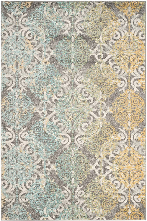 Safavieh Ameesha Grey & Yellow Rug, 6'7 x 9'