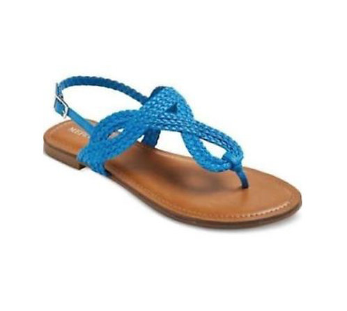 Jana Thong Braided Sandals - white or blue