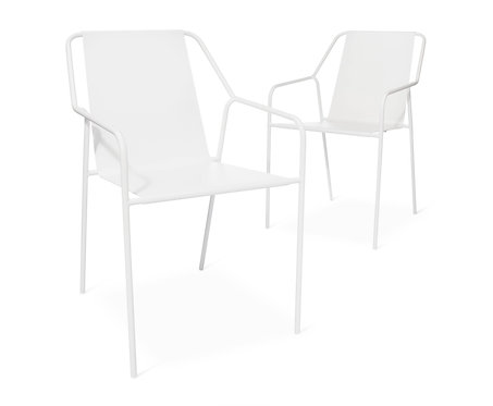 Set of 2 Dwell Metal Dining Chairs