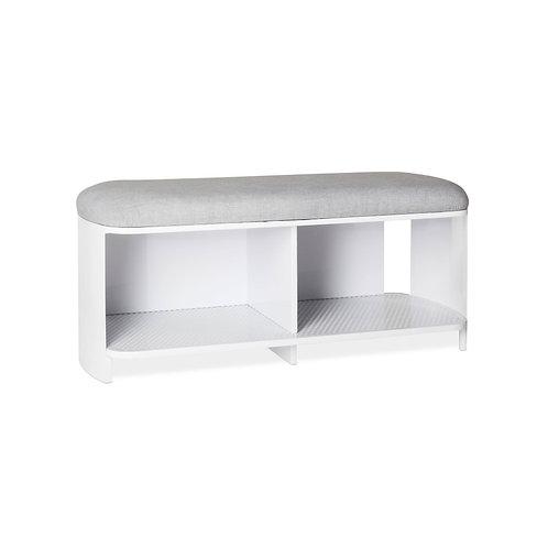 Modern by Dwell Magazine White & Gray Bench