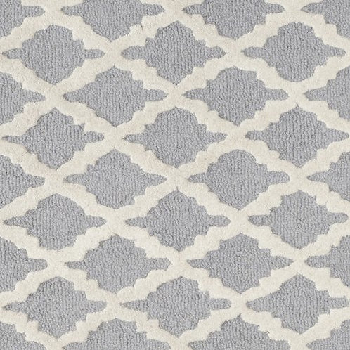Safavieh Martins Silver/Ivory Area Rug, 6ft Square