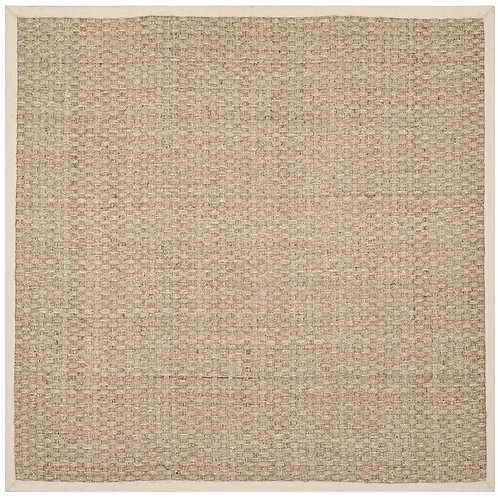 Catherine Hand-Woven Natural Rug, Square 6'