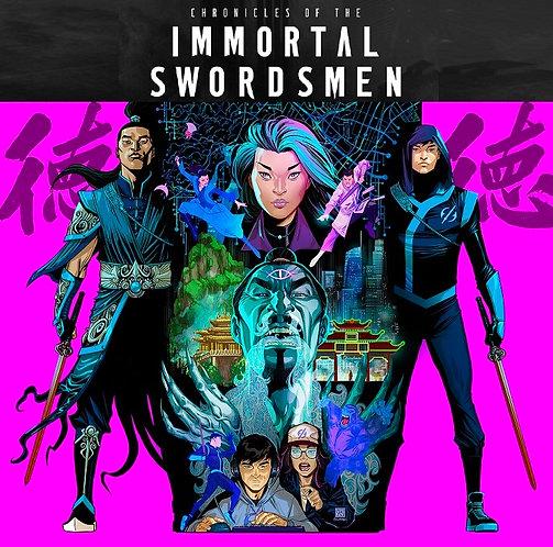 Chronicles of the Immortal Swordsmen #1 - PRINT: Bernard Chang variant cover