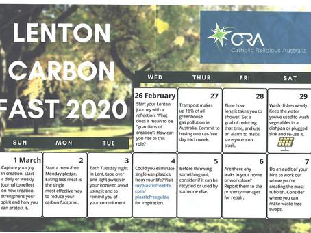 Lenten Carbon Fast 2020