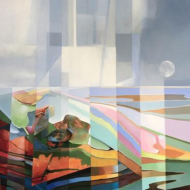 Coastal Light acrylic on canvas 70x70 cm