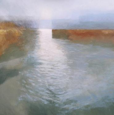 Waveney Mist  -            Sold acrylic on canvas 70x70 cm