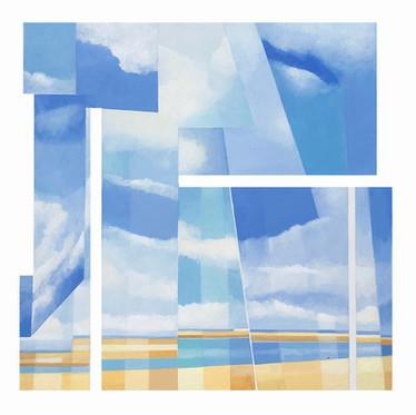Summer acrylic on canvas 70x70 cm