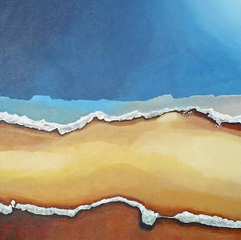 Desert Shoreline acrylic on canvas 63x63 cm