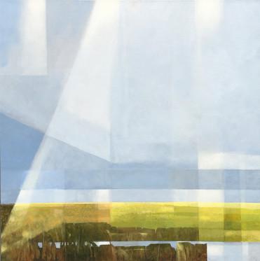 Cloudburst II acrylic on canvas  70x70 cm