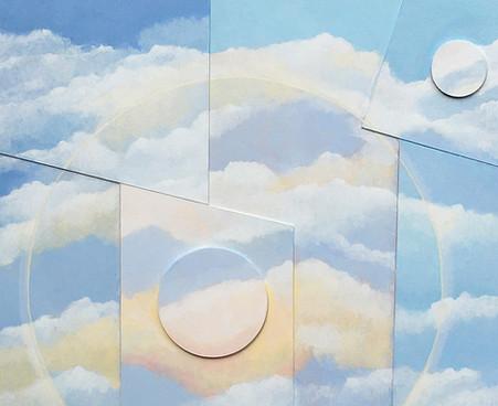 Halo II acrylic on canvas  65x55 cm
