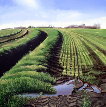 Tracks and Furrows   -  Sold acrylic on canvas 91x91 cm