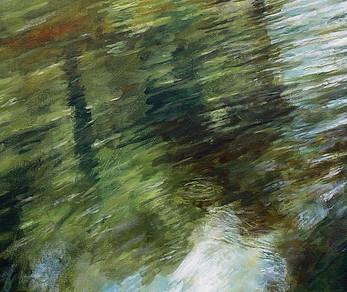 Waveney Reflections acrylic on canvas 83x83 cm