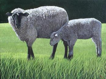 Summer Evening  -      Sold acrylic on canvas 36x30 cm