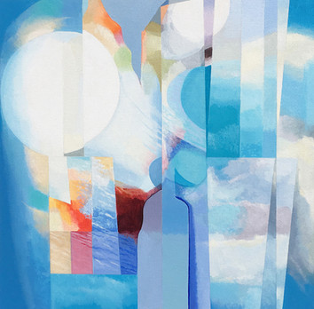 Elements  -                     Sold acrylic on canvas 80x100 cm