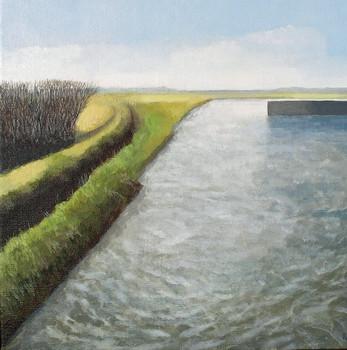 Waveney  -                   Sold acrylic on canvas 32x32 cm