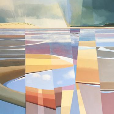 Low Tide acrylic on canvas 70x70 cm