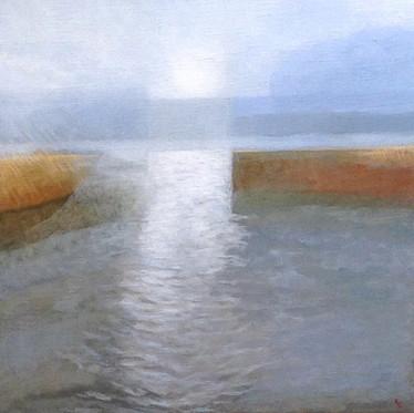 Waveney II  -                 Sold acrylic on canvas 37x37 cm