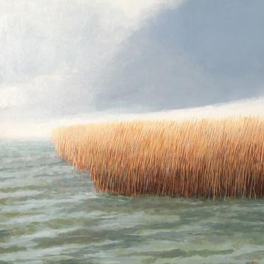 Tidal Margins acrylic on board 32x32 cm