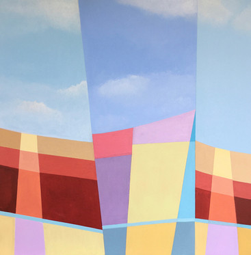 Windbreak acrylic on canvas 50x50 cm